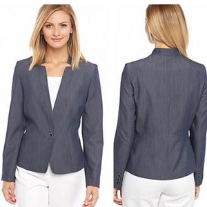 Nine West chambray button front blazer